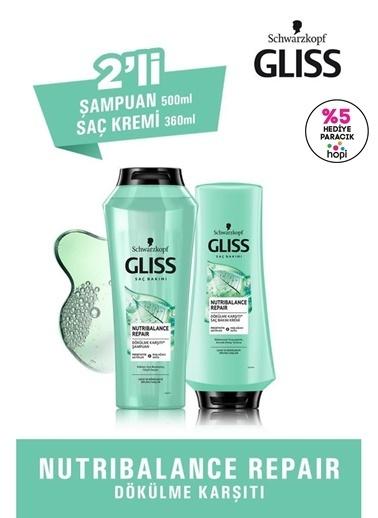 Gliss Nutribalance Repair Saç Dökülmesi Karşıtı Set (şampuan 500 Ml + Saç Kremi 360 Ml) Renksiz